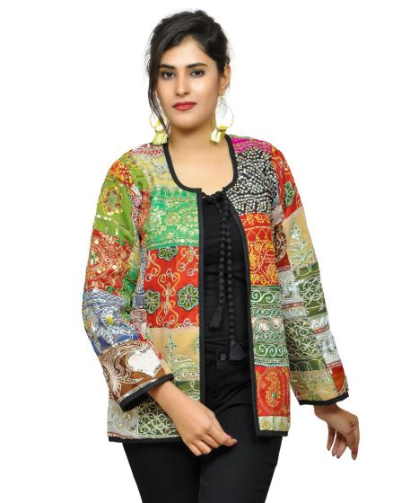 Indian Patchwoek Jacket Coat