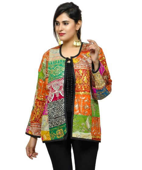 Bohemian Vintage Embroidery Patchwork Jacket