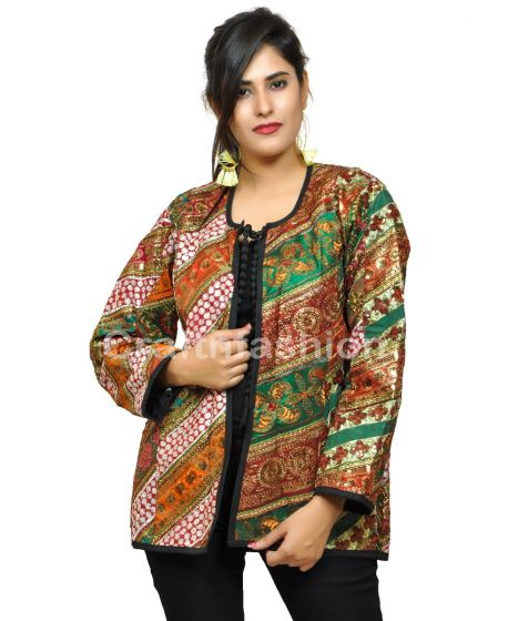 Bohemian Gypsy patch Work Jacket