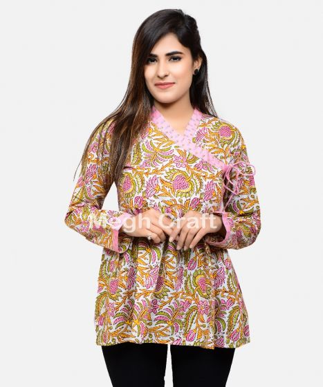 Ladies Angrakha Kurti Top Tunic