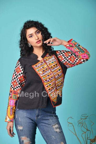 Mirror Embroidery Jacket Top