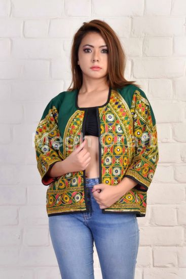 Green Embroidery Jacket