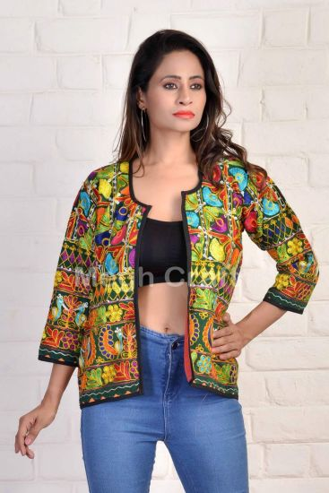 Peacock Designer Embroidery Jacket