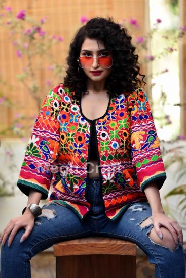 Multicolor Hand Embroidered Jacket