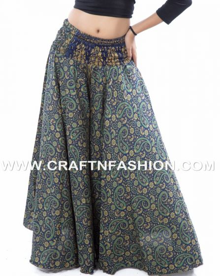 Blue Exclusive Silk Palazzo Pant