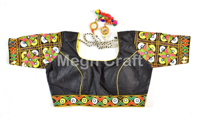 Indian Mirror Work Style Blouse