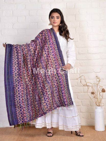 kantha Simple Printed stoles
