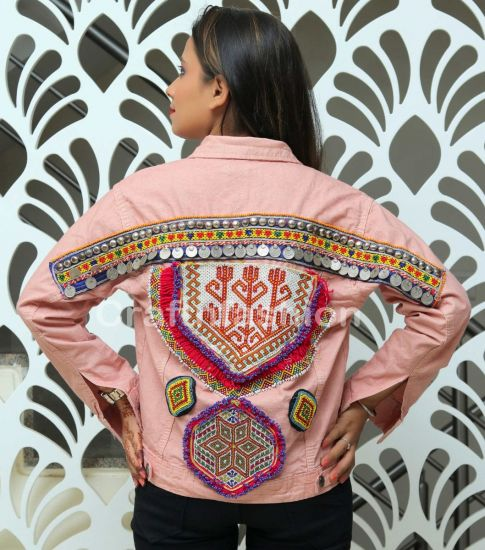 Afghan Coin Patch Work Jacket