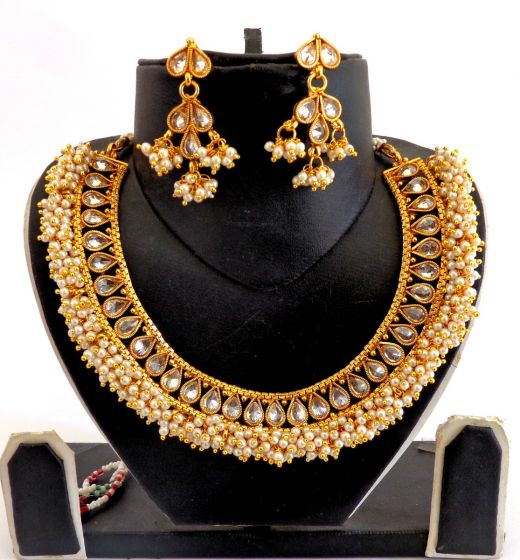 Gold Plated Indian Necklace