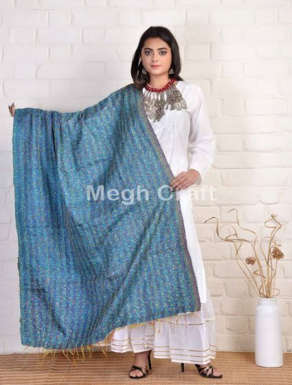 kantha hand embroidery stoles