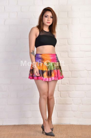Boho Fashion Tie Dye Mini Skirt