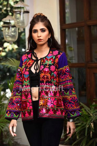 Mirror Embroidery Kutch Jacket