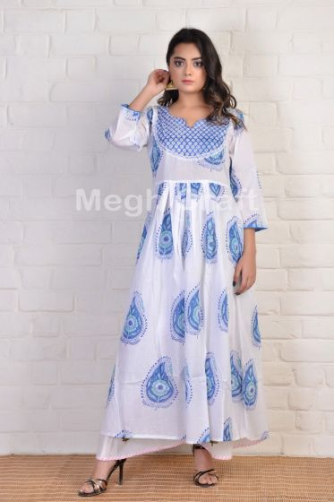 formal block Printed tunic kurti
