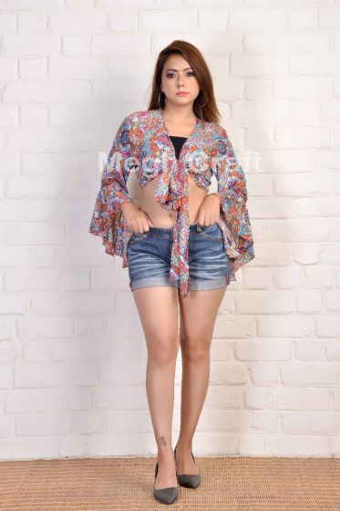 2021 Bohemian Fashion Tie Top