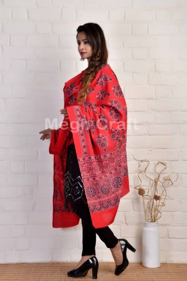 Traditional Ajrakh Dupatta Stole