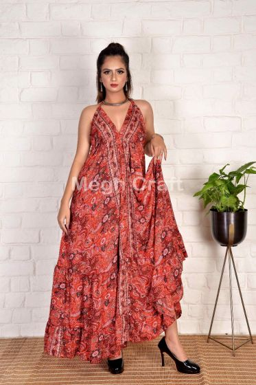 Red Floral Uno Maxi Dress