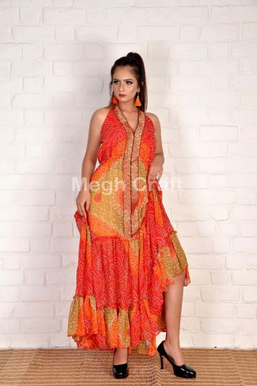 Bandhni Fusion Maxi Dress