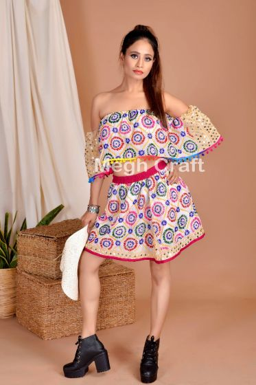 Phulkari Embroidery Top skirt