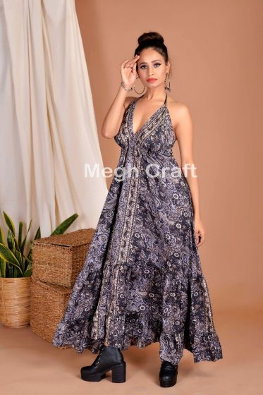 Paisley Boho Maxi Uno Dress