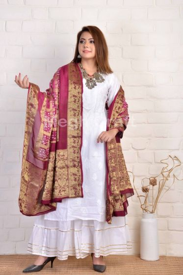 Exclusive Bandhni Golden work Dupatta