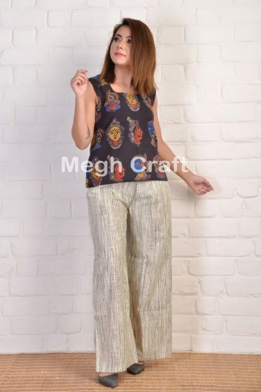 Natural Dyes Color Blockprinted Top