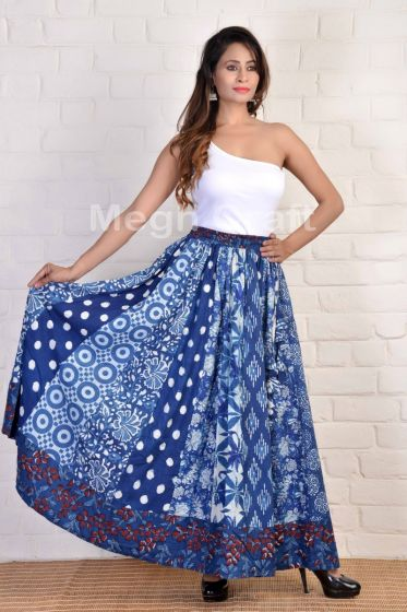 Summer Fashion Indigo Skirt