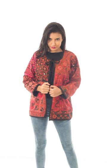 Red Tie Dye Banjara jacket