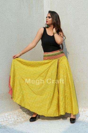 Yellow Indo Western Trouser pant