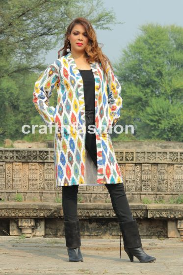 Boho Kantha Embroidery Jacket Coat