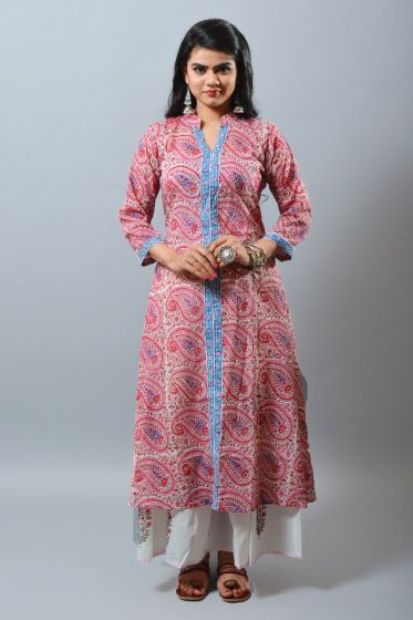 2020 summer Cotton Long Kurti
