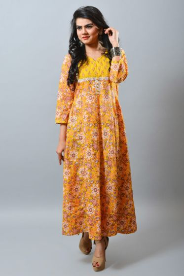 Summer Fashion Long Kurti Gown