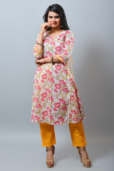 khadi Long Formal Gown Kurti