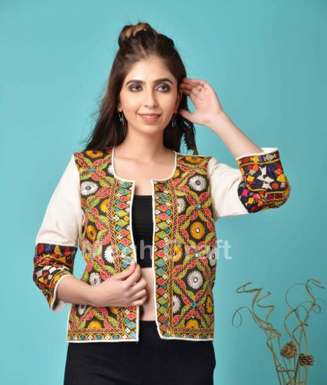Indian Embroidery Waist Jacket