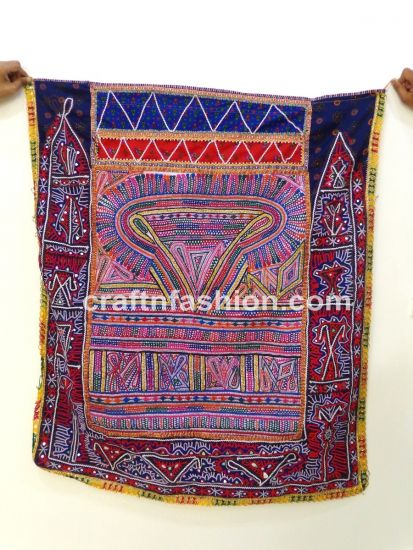1960s Handmade Patch Work Tapestry