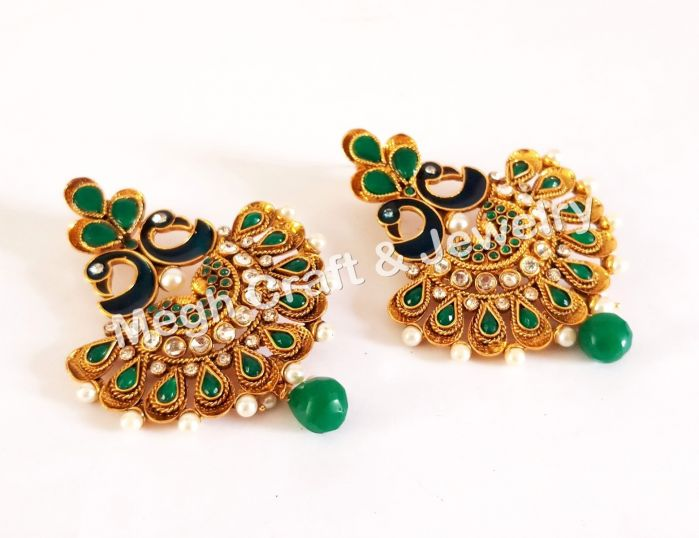 Peacock Style Earring
