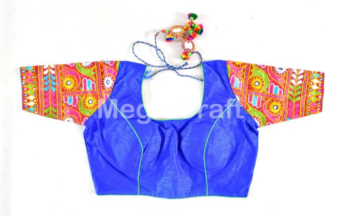 Cotton Kutchi Embroidered Blouse